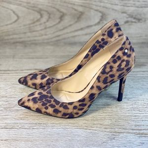 "Sam Edelman ""Mina"" Leopard Fabric Pumps"